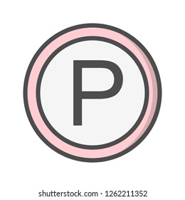 Vector Parking Icon Sign Icon Vector Illustration For Personal And Commercial Use...