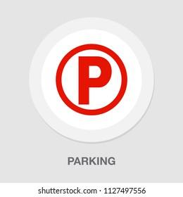 vector parking sign symbol. car parking traffic illustration isolated. vehicle transportation icon