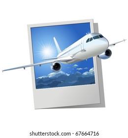 Vector passenger airliner.