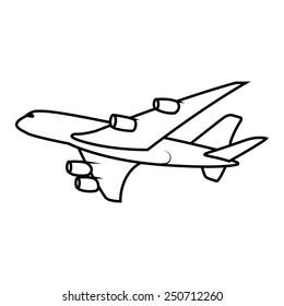 vector passenger airplane soaring