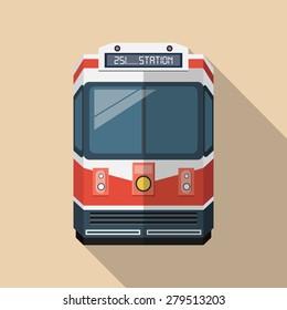 Vector Passenger Train Icon