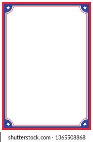 Vector Patriotic A4 Page Border