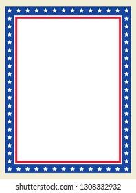 Vector Patriotic Page Border