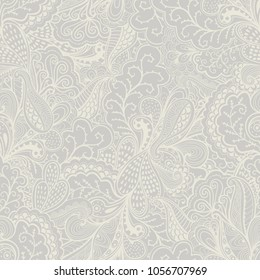Vector pattern abstract background with wave ornament. Hand draw illustration, coloring book zentangle motif