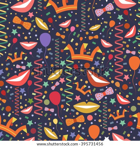 vector pattern for april fools day or birthdayfunny background