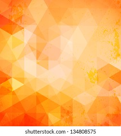 Vector pattern of colorful geometric shapes. Mosaic background with triangles.