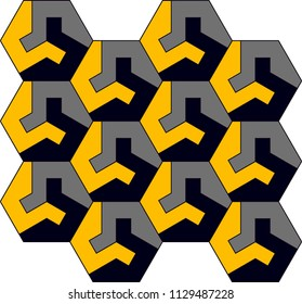vector pattern consisting of geometric shapes. By placing behind each other, the background is formed. It can be used for wall paper, packaging and textile pattern, background, gift card.