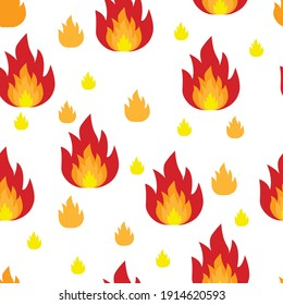 vector pattern with flame. flat fire image