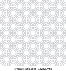 Vector pattern - geometric seamless simple black and white modern texture mesh
