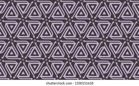 Vector pattern in geometric style. Triangles, lines. Modern elegant background. For your design. Chocolate purple color