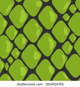 Vector Pattern of Green Snake Skin. Background of Snake Skin . Animal Print