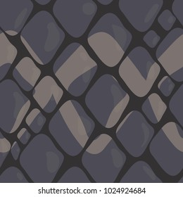 Vector Pattern of Grey Snake Skin with Ornaments. Background of Snake Skin . Animal Print