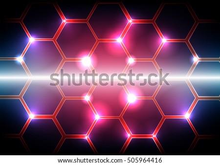 vector pattern hexagon light background hexagon stock vector