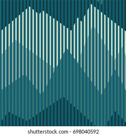 Vector pattern with the image of mountain peaks. Blue color scheme.