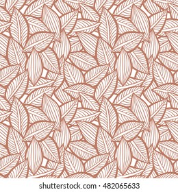 Vector pattern with leaves. Seamless autumn ornament.