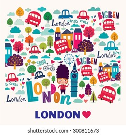 Vector pattern with London symbols