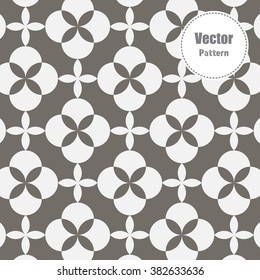 Vector pattern. Modern linear ornament with abstract flower. Geometric stylish pastel background.