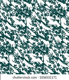 vector pattern plant engrave ink sakura