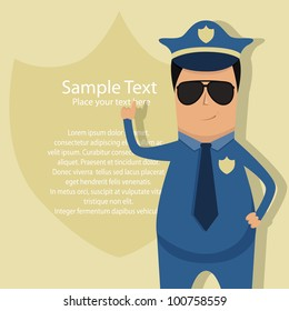 Vector pattern for police announcement