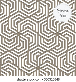 Vector pattern. Repeating 3D stylish geometric tiles with hexagonal elements