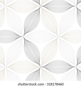 Vector  pattern. Repeating geometric abstract flower