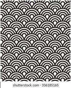 Vector pattern. Repeating geometric circles tiles