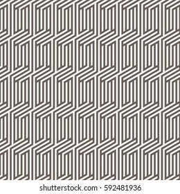 Vector pattern. Repeating geometric tiles with linear striped