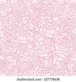 vector pattern with roses