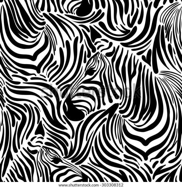 Vector Pattern Seamless Wallpaper Animal Print Stock Vector