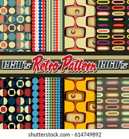 Vector Pattern Set from the Fifties, Sixties