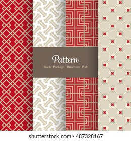 Vector Pattern Set for Package / Book / Screen Design - Asian - Chinese