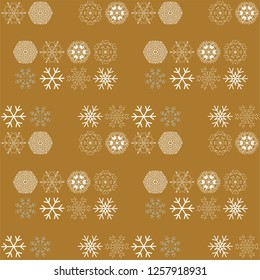 Vector pattern with snowflakes. Winter background. EPS10