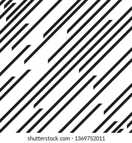 Vector  pattern with speed lines. Abstract Black Diagonal Striped repeating Background . Vector parallel slanting, oblique lines endless texture.
