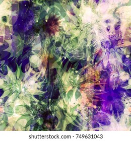 Vector pattern from spots stylized as flowers. Floral seamless texture. Abstract vector background for web page, banners backdrop, fabric, home decor, wrapping