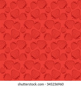 vector pattern with strawberries