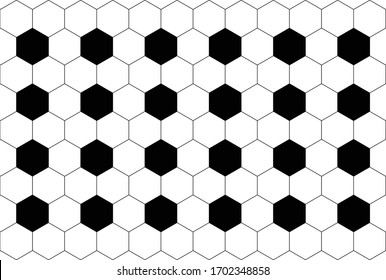 Vector pattern of stylish football texture. Repeating geometric tiles with hexagonal