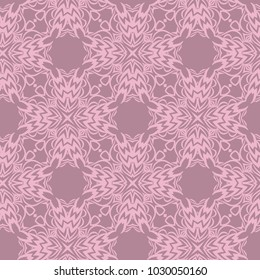 Vector pattern with stylish ornament. Floral seamless geometric design