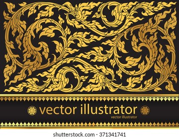 Vector pattern thai tradition stylish