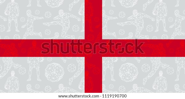 Vector Pattern Wallpaper Sport Soccer Players Royalty Free