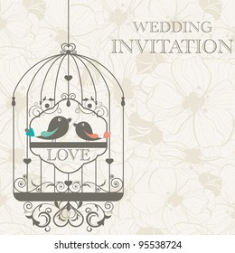 Vector pattern for wedding invitation