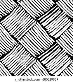 vector pattern Wicker black and white