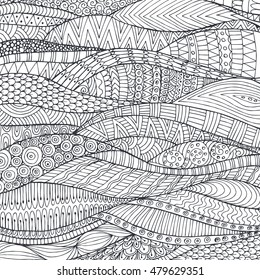 Vector pattern with zentangle background. Pattern for invitations, posters, antistress coloring. flayers, spa, beauty salons