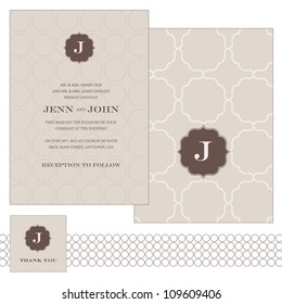 Vector Patterned Frame Set. Easy to edit. Perfect for invitations or announcements.