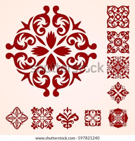 vector patterns elements set template design stock vector royalty