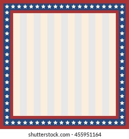 Vector  patterns with stars  Ornamental Design American Flag style