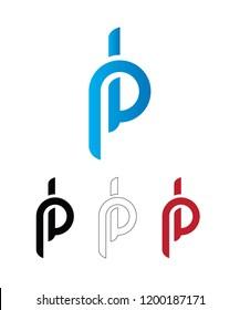 Vector pb Logo Design Icon Template