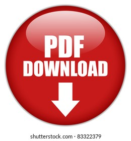 Vector pdf download button, eps10