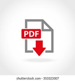 Vector PDF icon