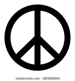 Vector peace symbol. Pacific icon isolated on white background. Flat sign