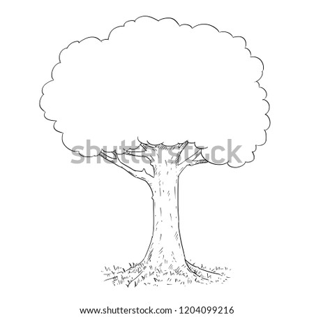 Vector Pen Ink Hand Drawing Black Stock Vector (Royalty Free